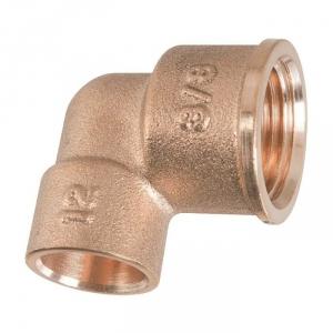 """Raccord laiton coudé 90° à souder - F 1/2"""" - Ø 16 mm - 90GC - Thermador"""