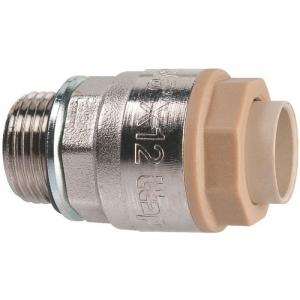 """Raccord laiton chromé droit à emboîtement - M 1/2"""" - Ø 14 mm - Itap-Fit - Itap"""