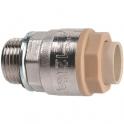 Raccord laiton chromé droit à emboîtement - M 1/2' - Ø 16 mm - Itap-Fit - Itap