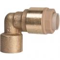 Raccord laiton coudé 90° à emboîtement - F 1/2' - Ø 16 mm - Itap-Fit - Itap