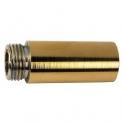 """Rallonge laiton polie droit à visser - M 3/4"""" - F 3/4"""" - 50 mm - Laigneau"""