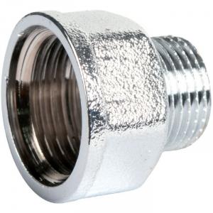 """Raccord laiton chromé hexagonal réduit à visser - M 3/4"""" - F 1"""" - Riquier"""