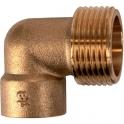Raccord laiton coudé 90° à souder - M 3/4' - Ø 16 mm - Sobime