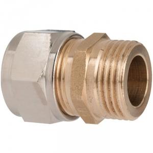 """Raccord laiton droit à serrage - M 1/2"""" - Ø 12 mm - Rapido - Sélection Cazabox"""