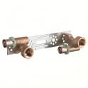 """Applique multicouche double avec support droit - Ø 16 mm à sertir - F 1/2"""" - Comap"""