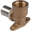 """Applique PER coudé 90° à visser - F 1/2"""" - Ø 20 mm - PB tub"""