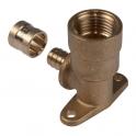 Applique PER longue coudé 90° à glissement - F 1/2' - Ø 16 mm - PB tub