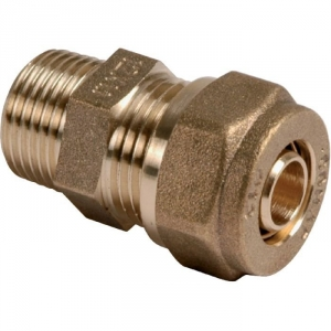 "Raccord PER droit à compression - M 1/2"" - Ø 16 mm - Comap"