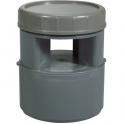 Aérateur à membrane PVC gris - Ø 110 mm - Regiplast