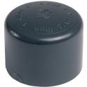 Bouchon PVC pression noir - Ø 50 mm - Girpi