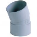 Raccord PVC gris coudé 20° - Ø 40 mm - Double emboîture - Nicoll