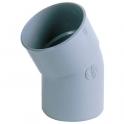 Raccord PVC gris coudé 20° - Ø 40 mm - Simple emboîture - Nicoll