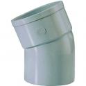 Raccord PVC gris coudé 22°30 - Ø 100 mm - Simple emboîture - Girpi