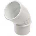 Raccord PVC blanc coudé 45° - Ø 50 mm - Simple emboîture - Nicoll