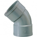 Raccord PVC gris coudé 45° - Ø 125 mm - Double emboîture - Girpi