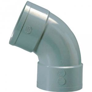 Raccord PVC gris coudé 67°30 - Ø 100 mm - Double emboîture - Girpi