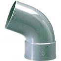 Raccord PVC gris coudé 67°30 - Ø 50 mm - Simple emboîture - Girpi