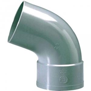 Raccord PVC gris coudé 67°30 - Ø 80 mm - Simple emboîture - Girpi