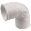 Raccord PVC blanc coudé 87°30 - Ø 50 mm - Double emboîture - Nicoll