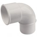 Raccord PVC blanc coudé 87°30 - Ø 50 mm - Simple emboîture - Nicoll
