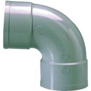 Raccord PVC gris coudé 87°30 - Ø 80 mm - Double emboîture - Girpi
