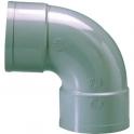 Raccord PVC gris coudé 87°30 - Ø 100 mm - Double emboîture - Girpi