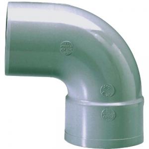 Raccord PVC gris coudé 87°30 - Ø 63 mm - Simple emboîture - Girpi