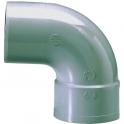 Raccord PVC gris coudé 87°30 - Ø 80 mm - Simple emboîture - Girpi