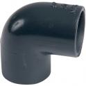 Raccord PVC pression noir coudé 90° - Femelle Ø 40 mm - Girpi