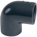 Raccord PVC pression noir coudé 90° - Femelle Ø 63 mm - Girpi