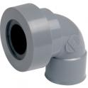 Adaptateur PVC gris coudé 87°30 - Femelle Ø 40 mm - Double emboîture - Nicoll