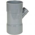 Culotte PVC gris 45° réduite - Ø 100 - 50 mm - Triple emboîture - Nicoll