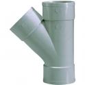 Culotte PVC gris 45° - Ø 40 mm - Triple emboîture - Girpi