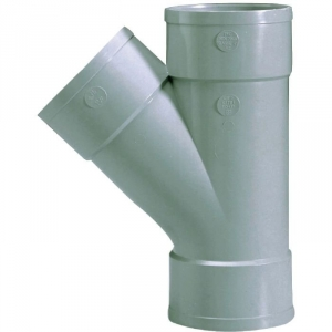 Culotte PVC gris 45° - Ø 80 mm - Triple emboîture - Girpi