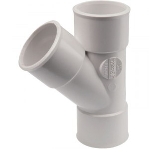 Culotte PVC blanc 45° - Ø 40 mm - Double emboîture - Nicoll