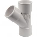 Culotte PVC blanc 45° - Ø 50 mm - Double emboîture - Nicoll