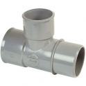 Culotte PVC gris réduit 87°30 - Ø 100 - 40 - 100 mm - Double emboîture - Nicoll