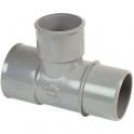 Culotte PVC gris réduit 87°30 - Ø 100 - 50 - 100 mm - Double emboîture - Nicoll