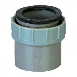 "Douille PVC grise droite - F 1""1/2 - Femelle Ø 40 mm - Girpi"