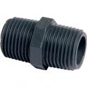 """Raccord PVC pression noir droit - M 3/4"""" - Girpi"""