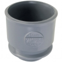Adaptateur PVC gris droit - Ø 40 mm - Nicoll