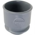 Adaptateur PVC gris droit - Ø 50 mm - Nicoll