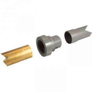Adaptateur PVC gris droit pour cuivre - Mâle / femelle Ø 50 mm - Nicoll
