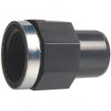 """Raccord PVC pression noir droit - F 1/2"""" - Ø 25 mm - Girpi"""