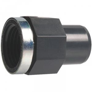 """Raccord PVC pression noir droit - F 3/4"""" - Ø 25 mm - Girpi"""