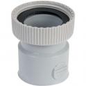 """Douille PVC grise droite - F 1""""1/4 - Femelle Ø 40 mm - Nicoll"""