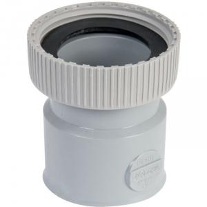 """Douille PVC grise droite - F 1""""1/2 - Femelle Ø 40 mm - Nicoll"""