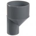 Raccord PVC gris excentré réduit - Mâle / femelle Ø 100 - 50 mm - Girpi