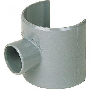 Selle de raccordement PVC gris - Femelle Ø 100 - 40 mm - Girpi
