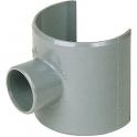 Selle de raccordement PVC gris - Femelle Ø 100 - 50 mm - Girpi